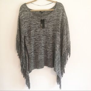 Apt.9 pullover sweater with fringe.